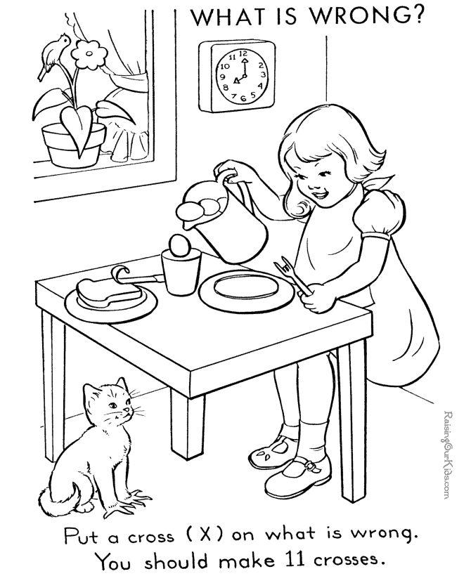 hidden images in picture for children - Printable Hidden Pictures For Kids