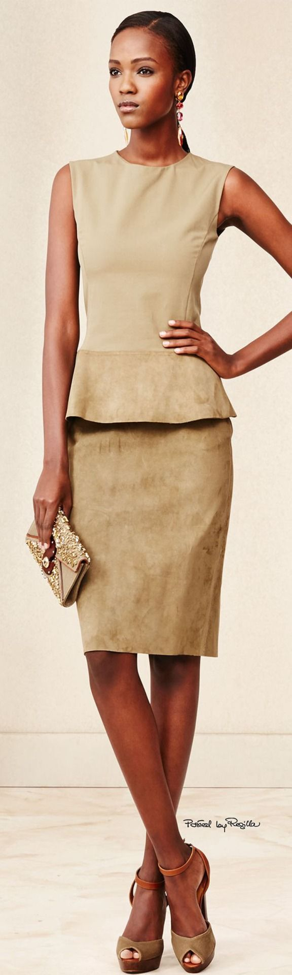 Toasted Almond skirt and top...