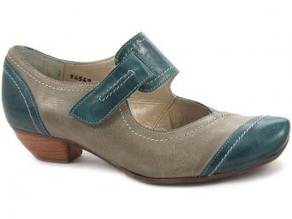 E696 Teal and Taupe Mary Janes. Fidji. $199. #ShoePorn