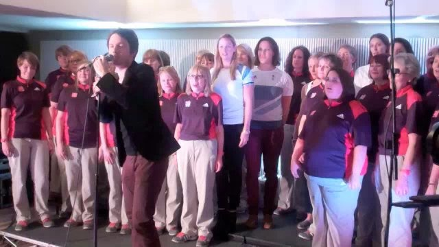 Team GB Rowers and The Games Maker Choir by Sportsister. Listen to our interview with the Team GB rowing choir and the first public performance of I Wish For You The World from the Games Maker Choir with Alistair Griffin - pretty special!