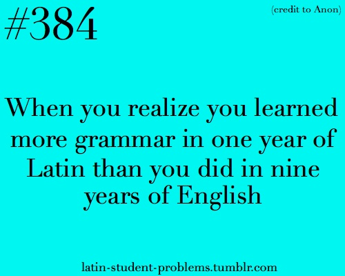 Yes! And I didn't realize that was why everyone else in my class couldn't grasp the grammar like I could!