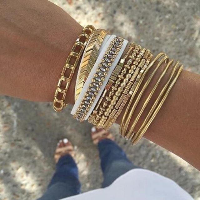 On Fridays, we wear #gold #armcandy.  Tag your #stelladotstyle for a chance to be featured!