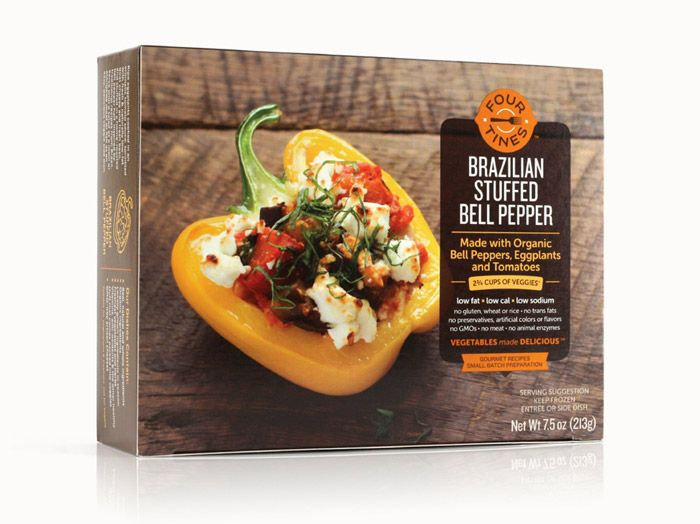 """Another fantastic project from Jjaakk: """"Identity and packaging for a line of gourmet frozen vegetable entrées. Editorial-style photography accompanied by a structured, modern design allows these savory dishes to take center stage."""""""