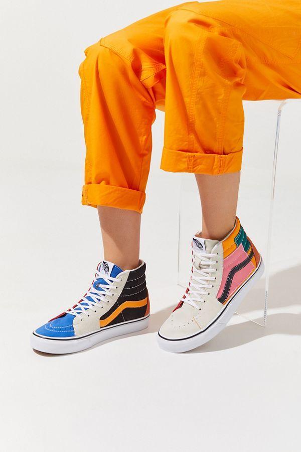 Günstige Vans Sneaker High Vans Patchwork Sk8 Hi Damen