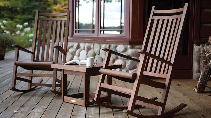 Wood Teak Outdoor Rocking Chairs From Jensen Leisure Available At Oregon S Largest Showroom Of Pat Wood Patio Furniture Deep Seating Patio Furniture Furniture