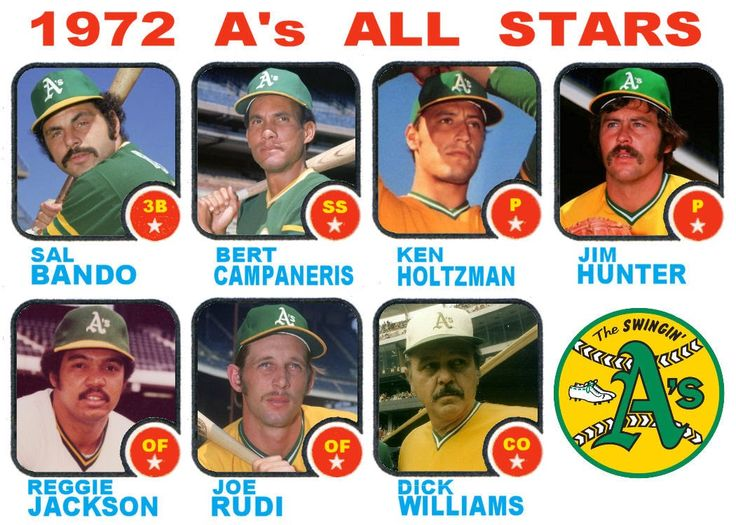 1973 topps all star cards american league west