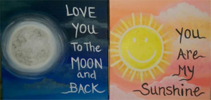I am going to paint Mommy & Me - Sun & Moon at Pinot's Palette - Lakeside to discover my inner artist!