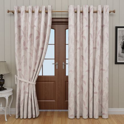 GM Floral Curtain With Tie Back Cream
