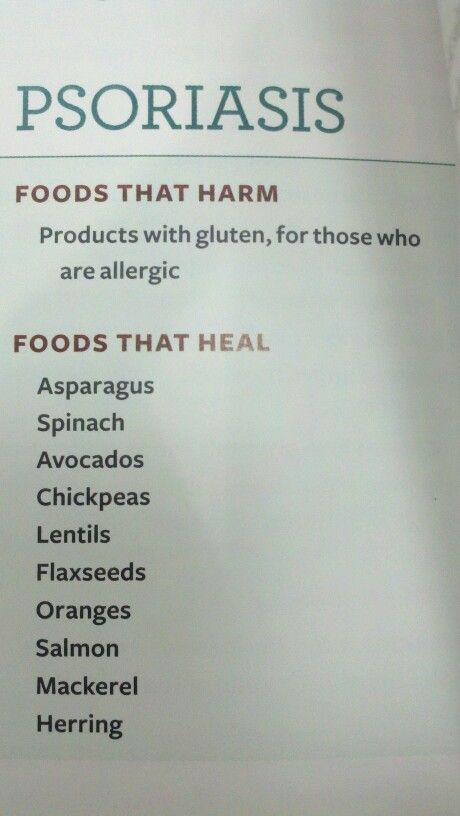 Foods That heal (Psoriasis)