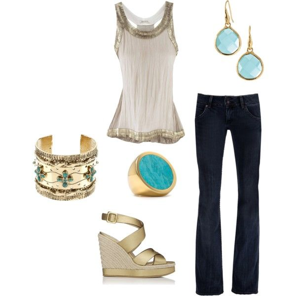 Love the Metallic: Bracelets, Color, Going Out Outfits, Stella And Dot, Blue Blazers, Dots Earrings, Fashion Make Up Hair, Cute Summer Outfits, Go Outs Outfit
