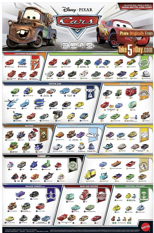Mattel Disney Pixar CARS Diecast: Website & Poster | Take Five a Day