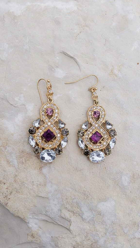 Pretty Clear | Purple Statement Earrings | Online Store Powered by Storenvy