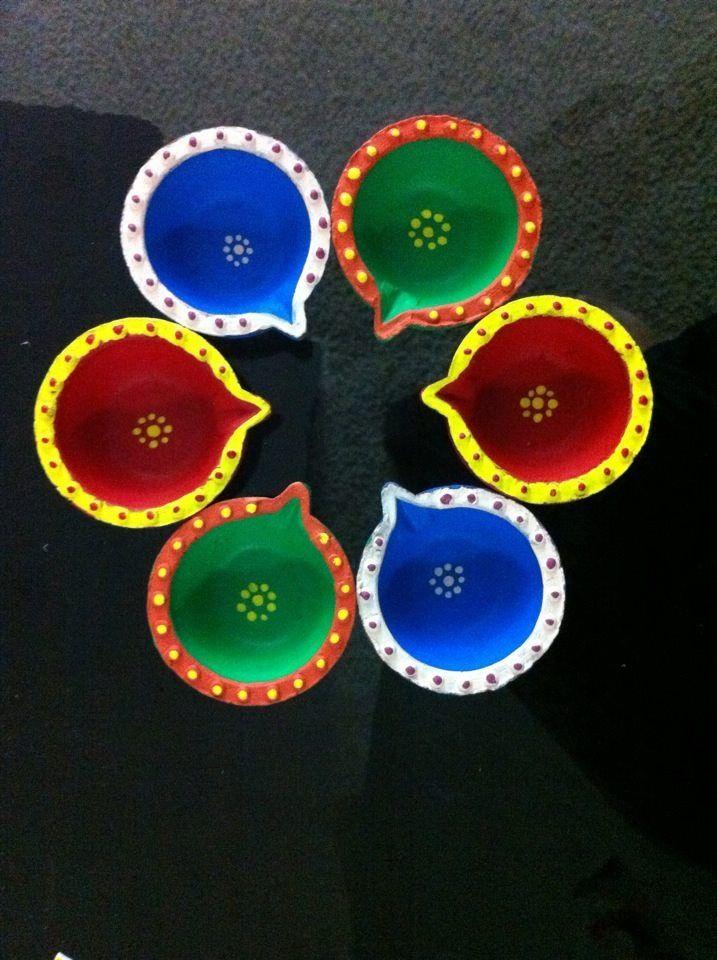 Diya painting creations pinterest diwali paintings for Art and craft diya decoration