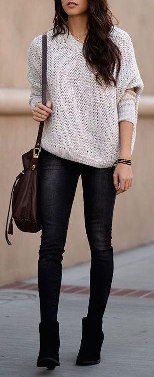 #fall #fashion / knit + booties