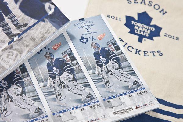 Toronto Maple Leafs 2011-12 Season Tickets by Matt Coyle, via Behance