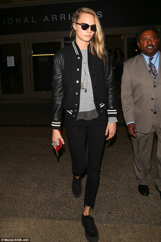 International Arrival: On Saturday night, Cara Delevingne was spotted leaving LAX after jetting into Los Angeles from her native London