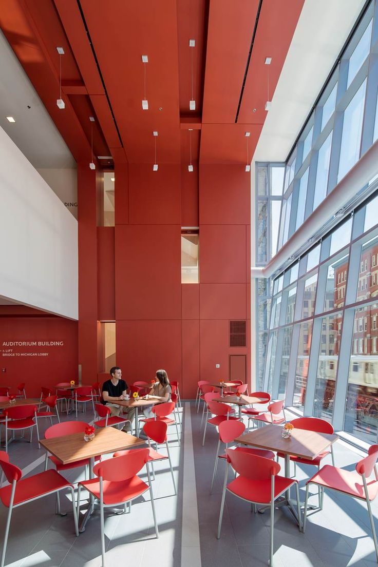 Roosevelt University Academic, Student Life and Residence Center, Chicago IL   Dining Hall   VOA Associates, Architects