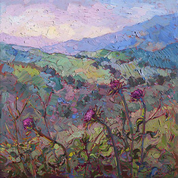 Thistles At Paso Print by Erin Hanson