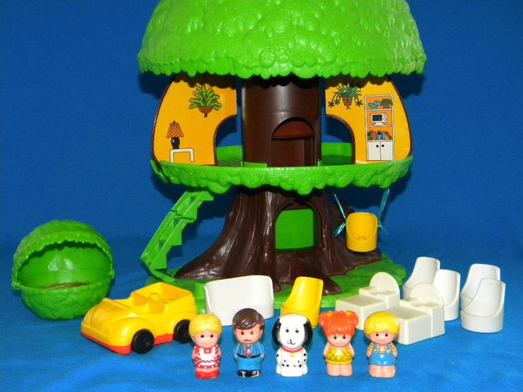 Superior Kenner Treehouse Part - 13: Vintage Kenner Little People TREEHOUSE TREETOTS TREE TOTS VGC