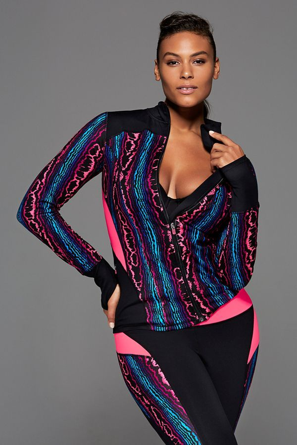 The Best Plus-Size Activewear To Up Your Workout Game #refinery29  http://www.refinery29.com/plus-size-workout-clothes-2016#slide-16  This technicolor piece is electrifying.Sophie Theallet Wicking Active Jacket, $89.95, available at Lane Bryant....