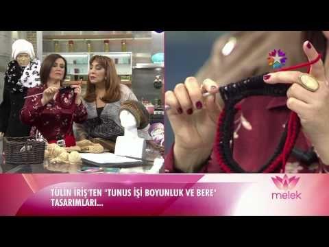Alize Superlana Maxi ve Alize Ponponella ile Tunus İşi Bere Boyunluk Tasarımı - YouTube