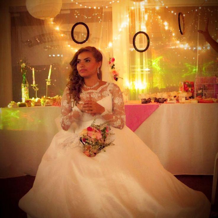 Traje de novia y decoración Vintage