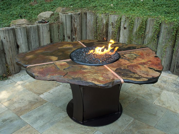 1000 Images About Fire Pit Dining Table On Pinterest