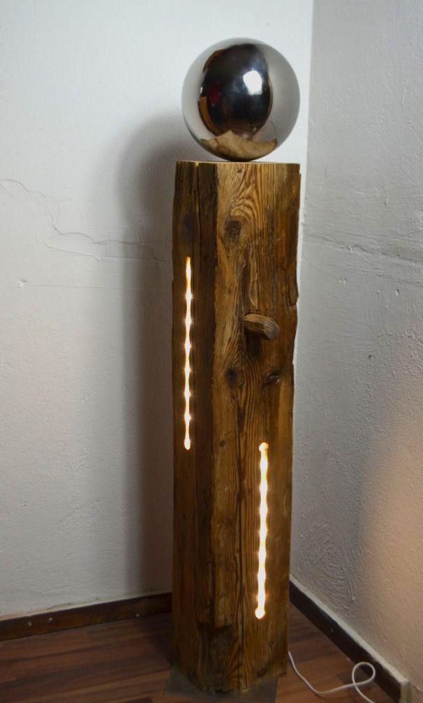 Hochwertig Holzbalken Mit LED Stripse, Modell XIII