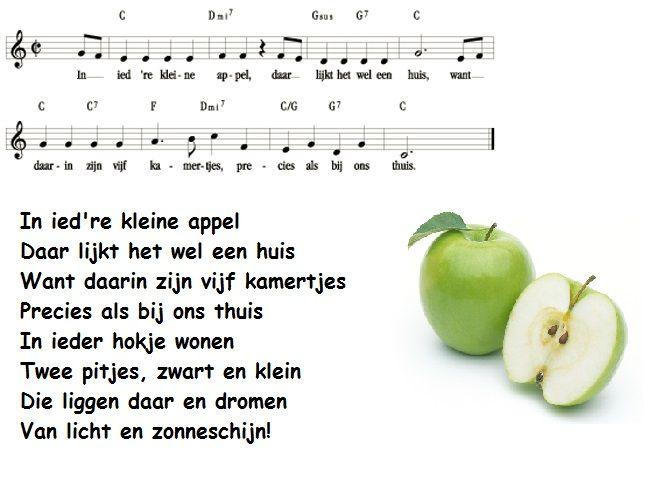 *▶ LIEDJE: In iedere kleine appel...
