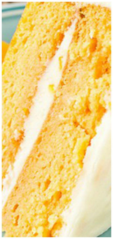 Orange Cream Cake ~Super moist orange cake topped with orange buttercream frosting making this a refreshing, summer dessert!