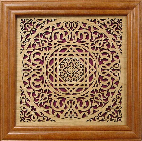 Laser Cut Wall Art Decor << frame wood filagree panel arabesque