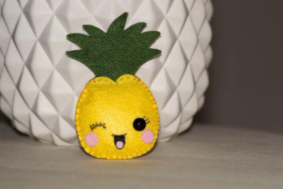 Ananas mini peluche en feutrine par CocoStudioCreations sur Etsy