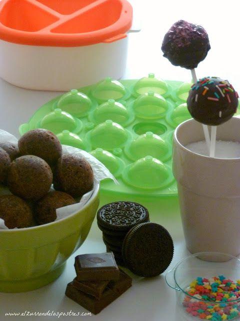El Zurrón de los Postres: Cake Pops de Oreo. Productos Lékué