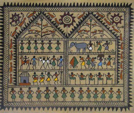 Warli Tribal Life - Work and Dance