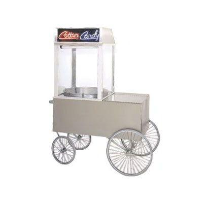 "Gold Medal 2012ST Popcorn Wagon w/ 4-Spoke Wheels, Stainless, 48x34"""