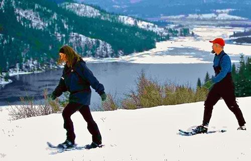 Snowshoeing at Georgetown Lake make a great Montana winter adventure. Let's go!