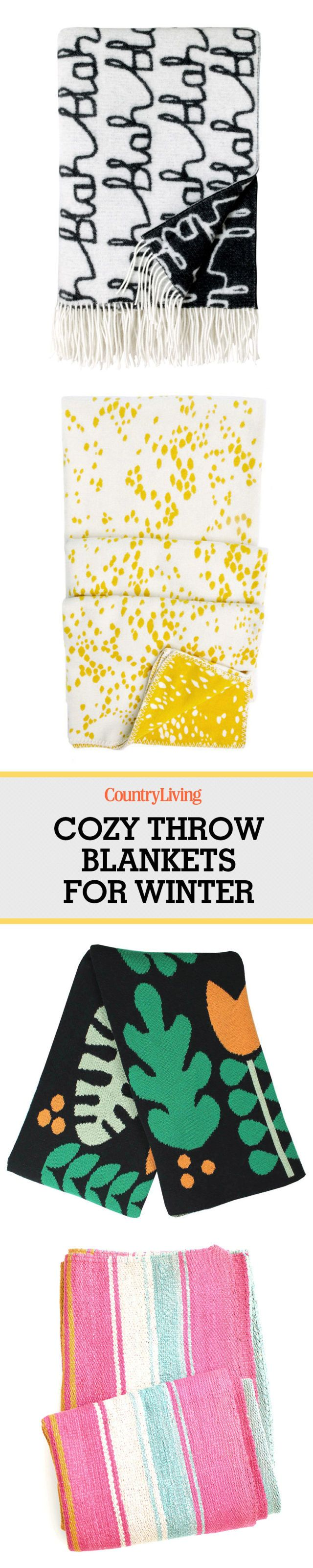 These cozy throw blankets will help you survive the end of winter.