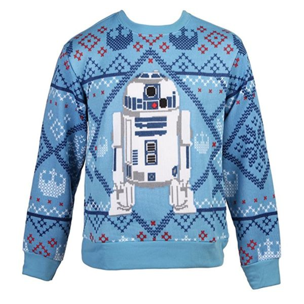 R2-D2 Unisex Blue Star Wars Ugly Christmas Sweater