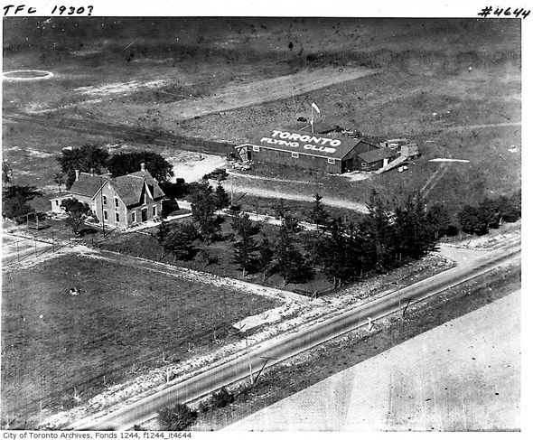 Above what is now Pearson International in 1930