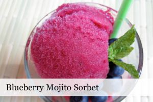 Blueberry Mojito SorbetCocktail - Scoop Adventures - Scoop Adventures