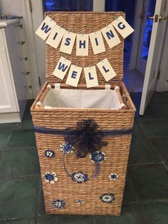 Beautiful wishing well and wishing well hamper is also a gift