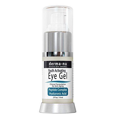 Wrinkle Eye Cream Par Derma -nu – Anti Aging Eye Treatment Gel pour les cernes , les poches et les rides – Formule Peptide Collagène…
