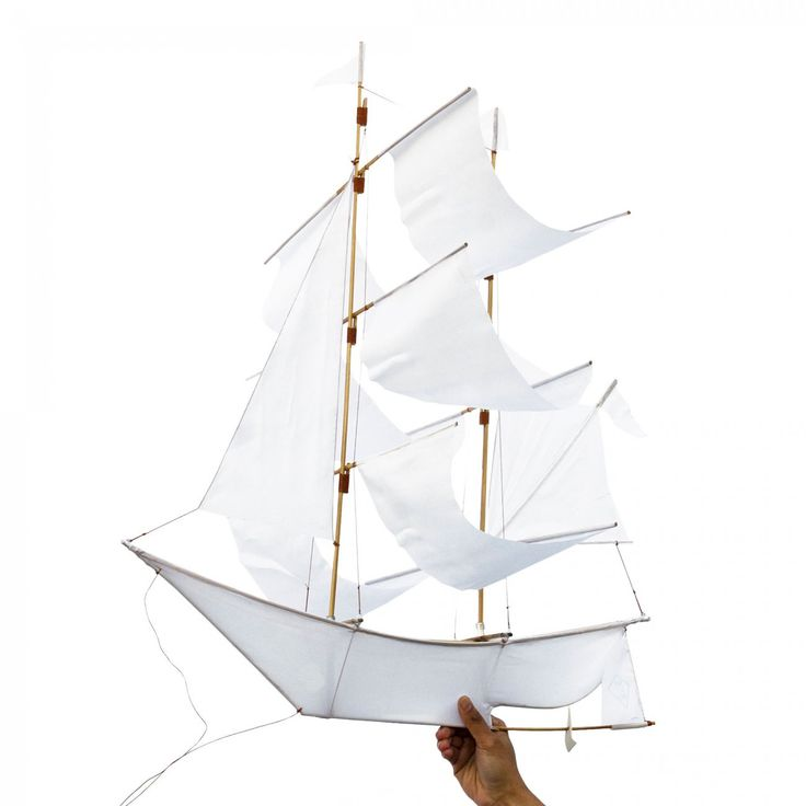 De handgjorda drakarna Sailing Ship Kite tillverkas av balinesiska hantverkare exklusivt för designstudion Haptic Lab. Drakarna flyger som bäst i stark vind – på stranden eller på en kulle. Men de dekorativa skeppen är precis lika vackra som prydnad inomhus. Låt ett skepp pryda bokhyllan eller häng upp som hängade mobil. Drakarna levereras i ett platt paket tillsammans med lina och en enkel monteringsanvisning. Du kan även se en video på hur du monterar din drakehär.