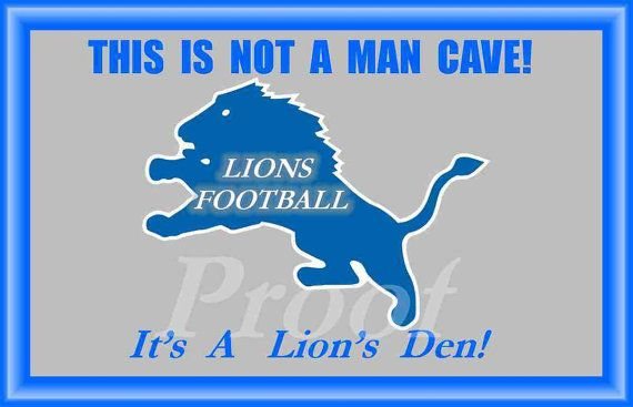 Detroit Lions Man Cave Poster II's Not a Man by RobsVintageImages, $8.99