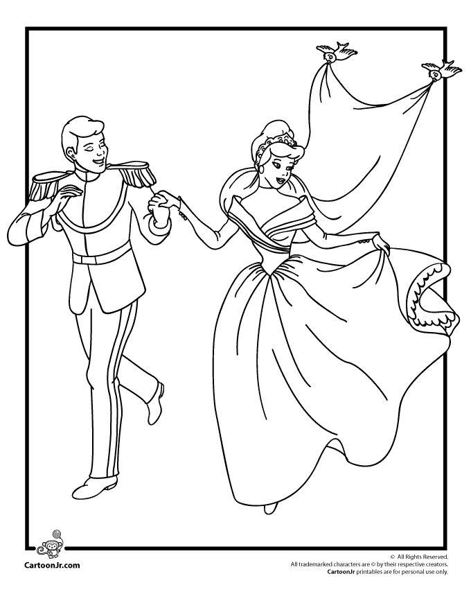 disneys cinderella coloring pages cinderellas wedding coloring page cartoon jr - Disney Princess Activities