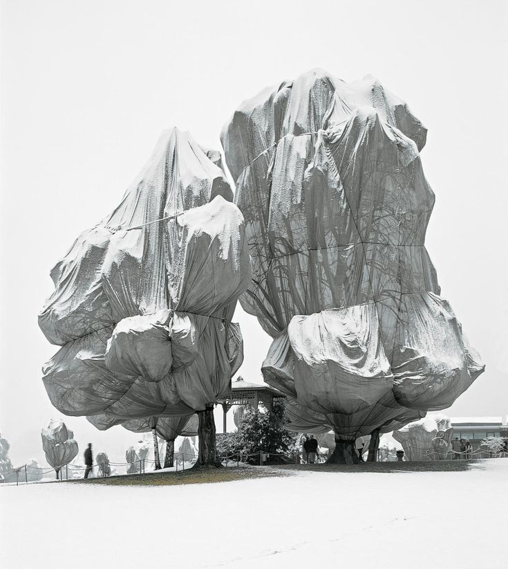 Christo and Jeanne-Claude.  Wrapped Trees, Fondation Beyeler and Berower Park, Riehen, Switzerland, 1997-98