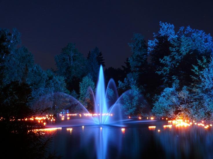 Mystical fountain, Bad Woerishofen, Germany