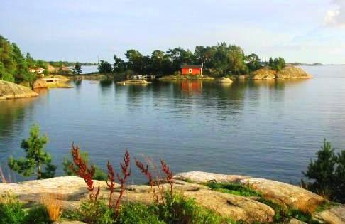 Baltic sea Island in Porkkala Finland