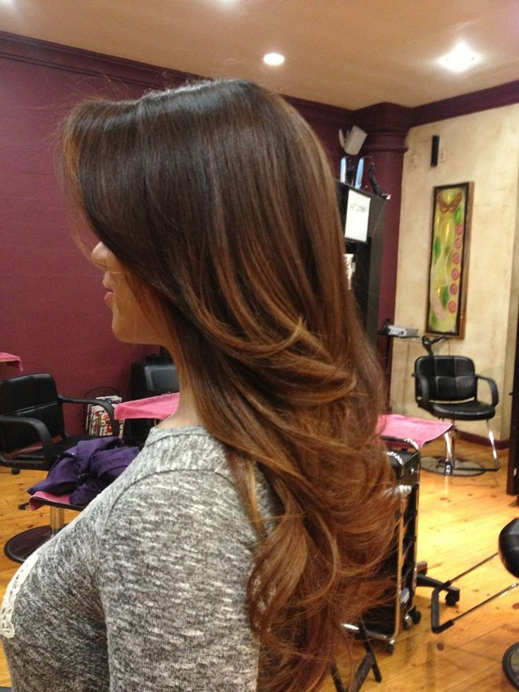 Brown ombré to caramel | Hair style | Hair, Hair Color ...