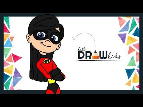 learn how to draw elastigirl from disney pixar s incredibles 2 movie in this simple step